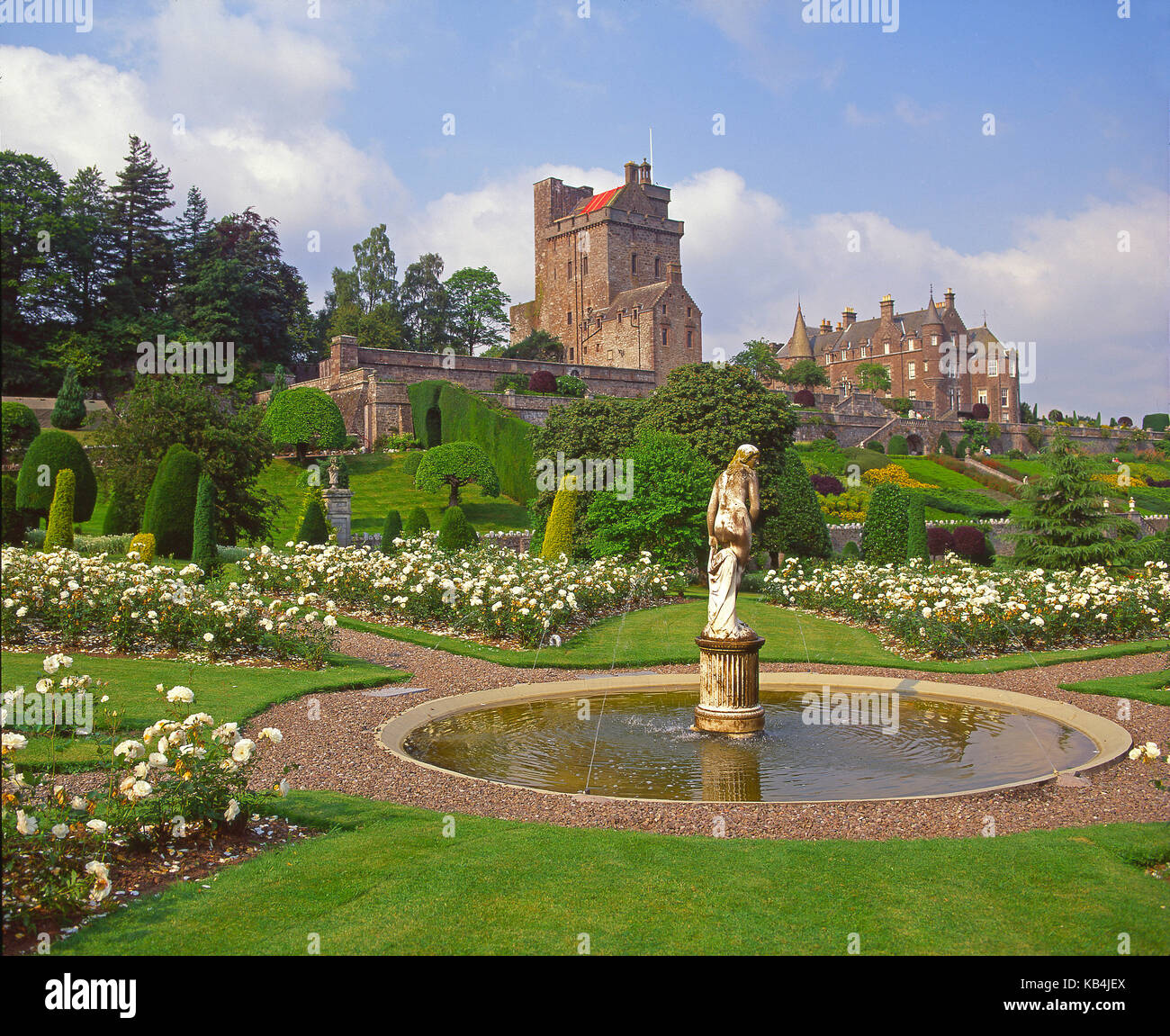 Beautiful Landscaped Gardens At Drummond Castle, Near Crieff, Perthshire