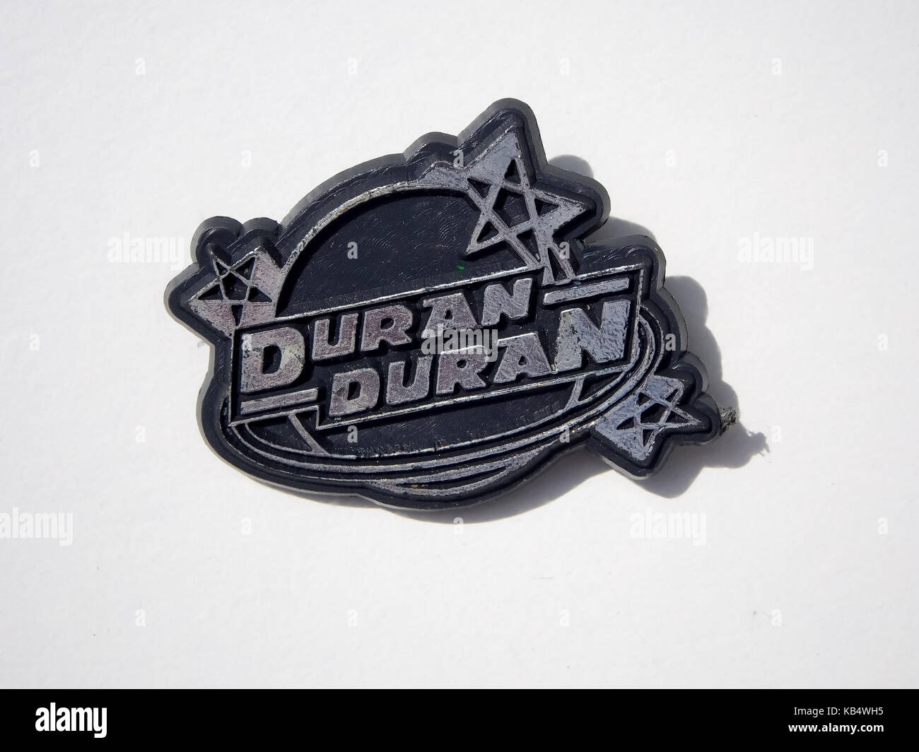 A badge from the 1980s for the pop band duran duran stock photo a badge from the 1980s for the pop band duran duran buycottarizona