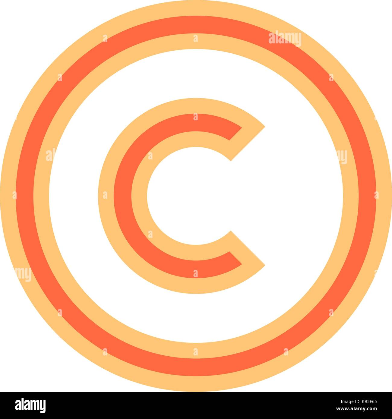 Copyright sign stock photos copyright sign stock images alamy the copyright symbol or copyright sign a circled capital letter c flat style biocorpaavc Gallery