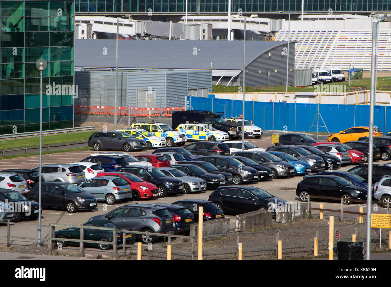 Airport parking uk stock photos airport parking uk stock images essex police vehicles amongst other cars parked at stansted airport stansted mountfitchet essex kristyandbryce Images