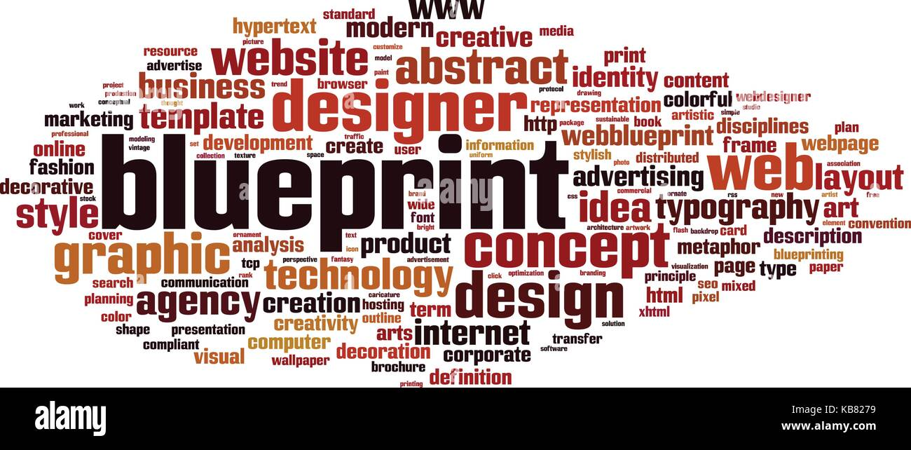 Blueprint word cloud concept vector illustration stock vector art blueprint word cloud concept vector illustration malvernweather Choice Image
