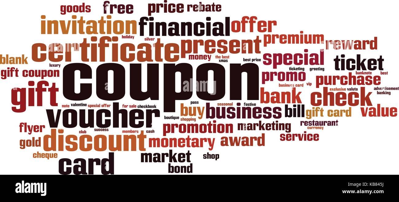 Coupon Word Cloud Concept Vector Illustration Stock Vector Art