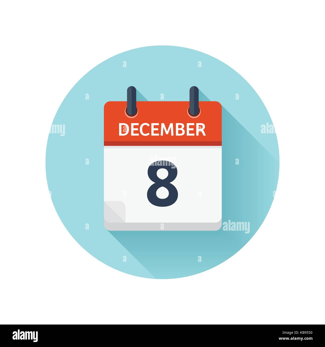 Vector Flat Daily Calendar Icon. Date And Time, Day, Month 2018. Holiday.  Season