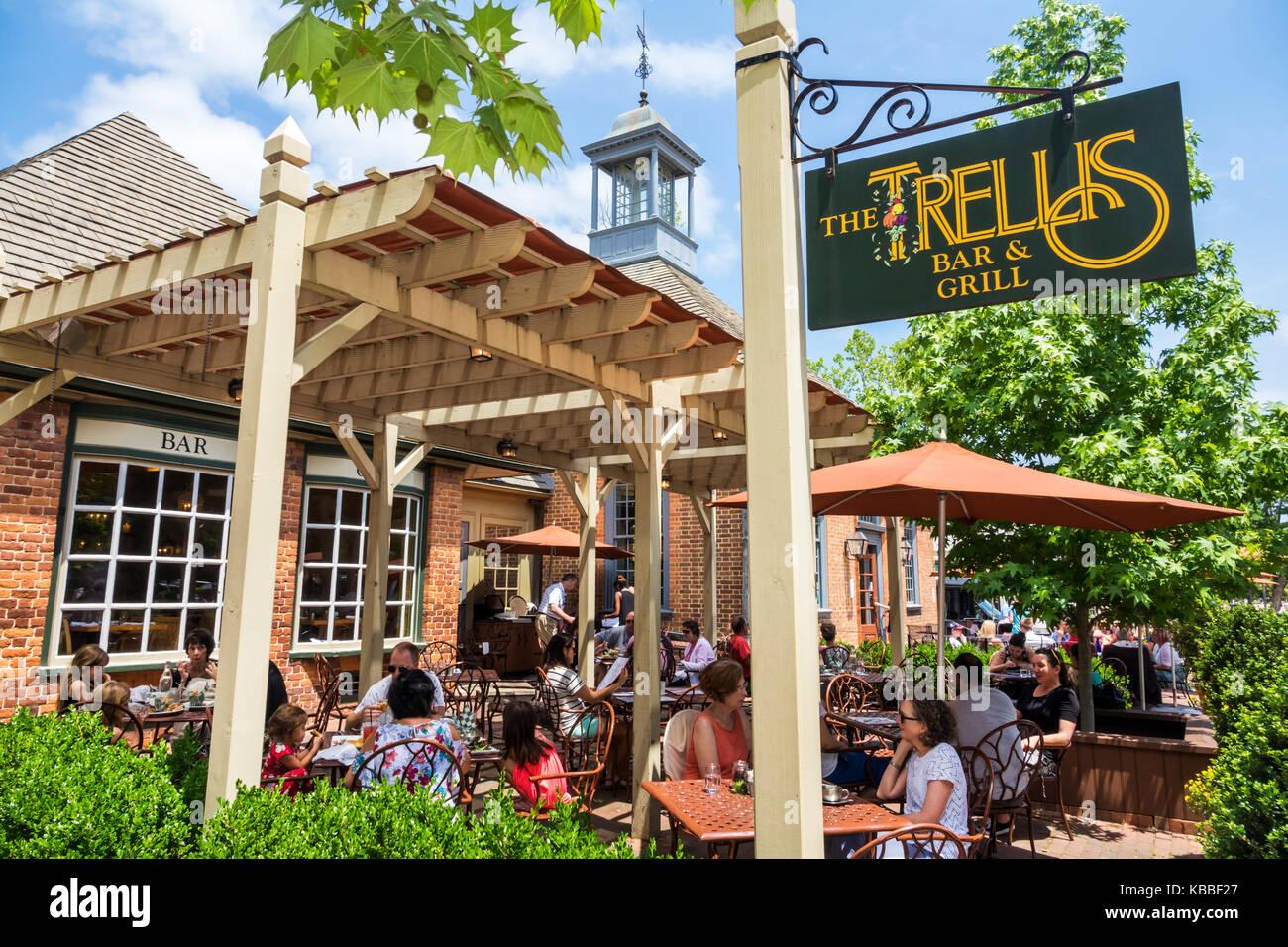 colonial williamsburg virginia the trellis bar grill restaurant