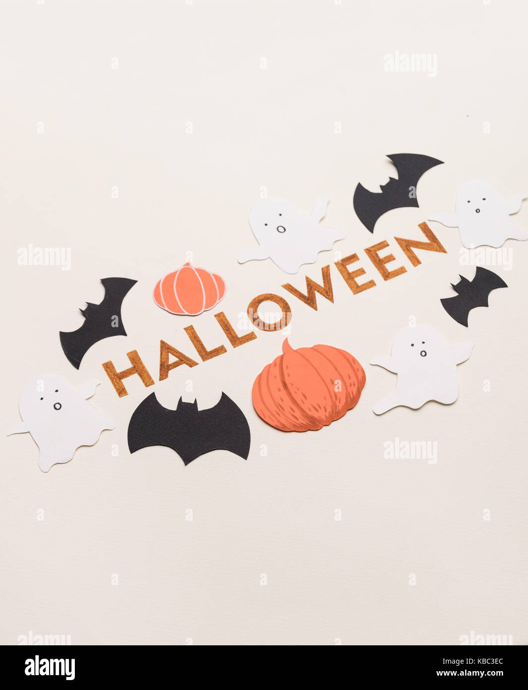 Decorated Orange Typeface Text For Halloween Logo With Traditional