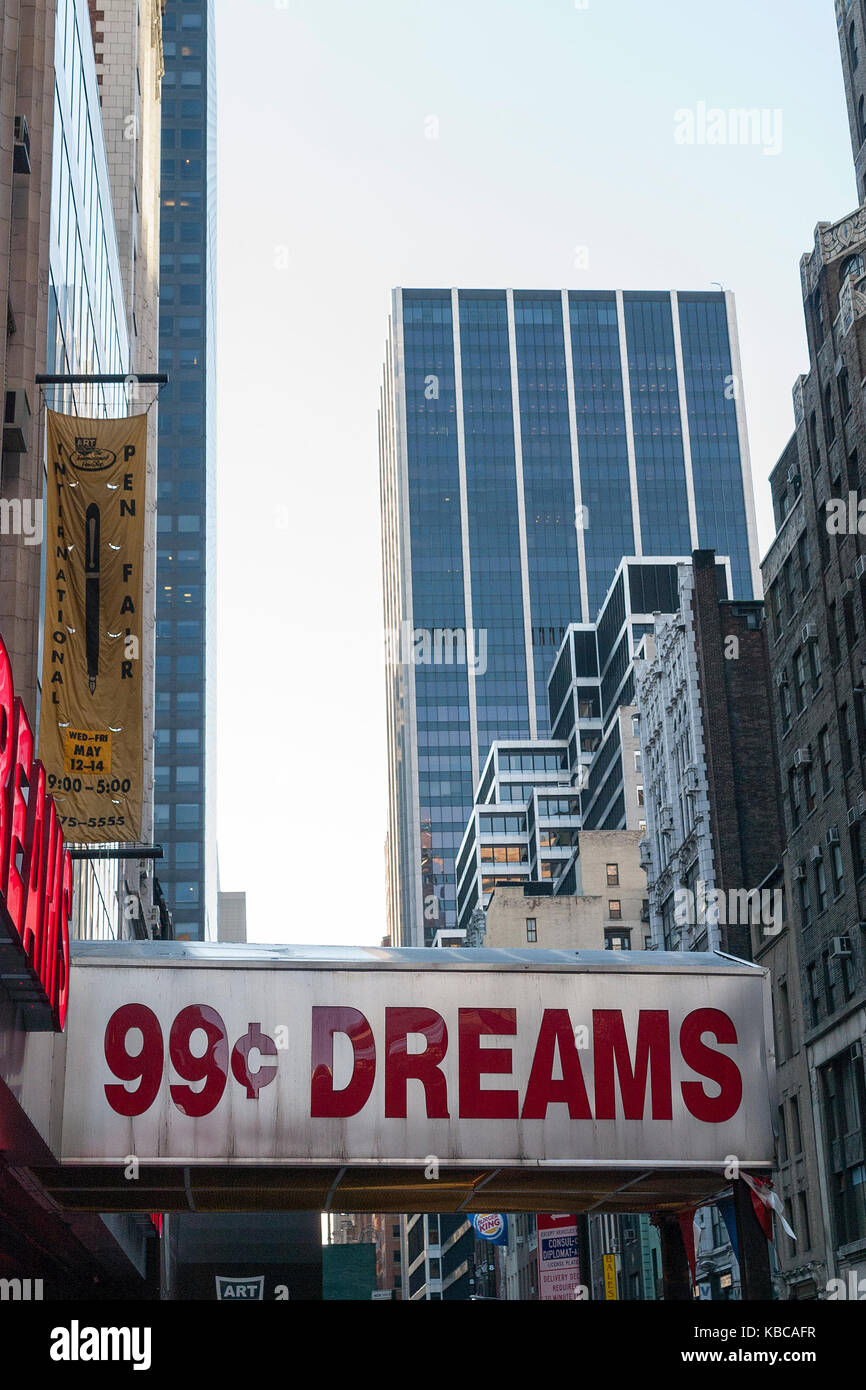 Cents sign stock photos cents sign stock images alamy 99 cent dreams sign on a street in manhattan new york stock image buycottarizona Gallery