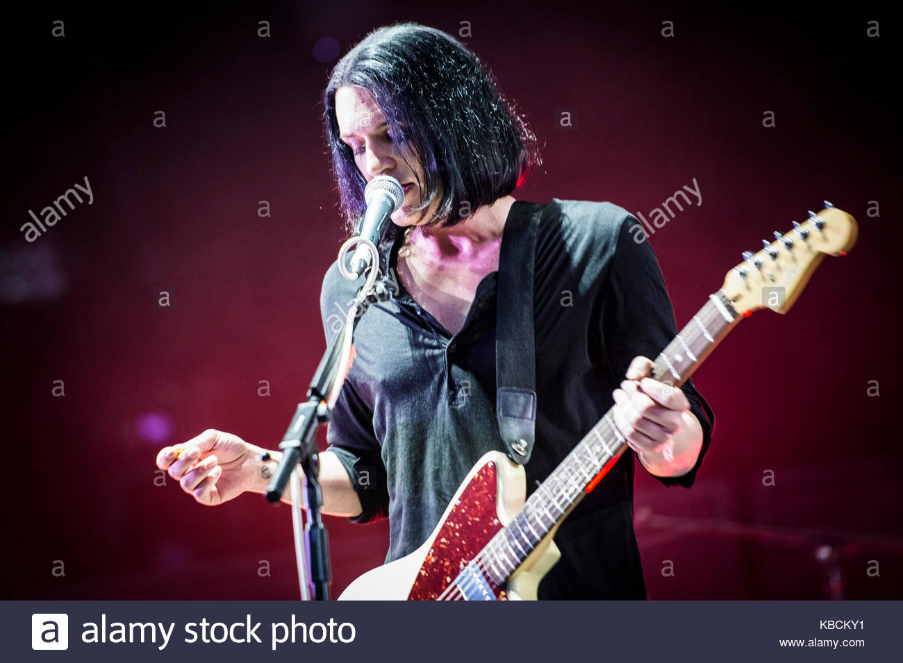 Brian Molko Placebo Pictures Of Performing Live At City Alfa Romeo Sound Milano In Milan On July 22 2014 Ippodromo Del Galoppo