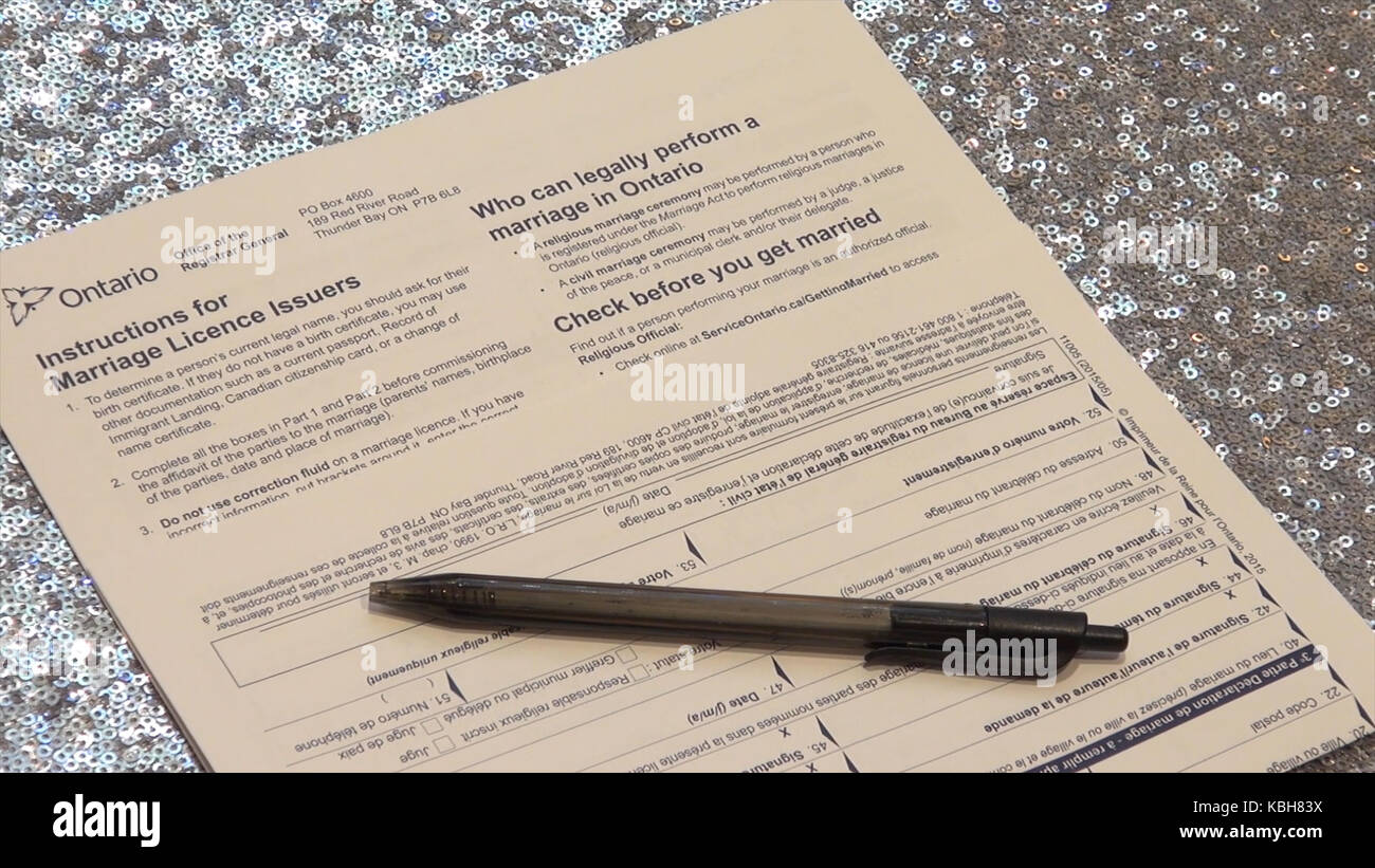 Registration of marriage stock photos registration of marriage marriage certificate form application to be married legally the form of registration of marriage aiddatafo Choice Image