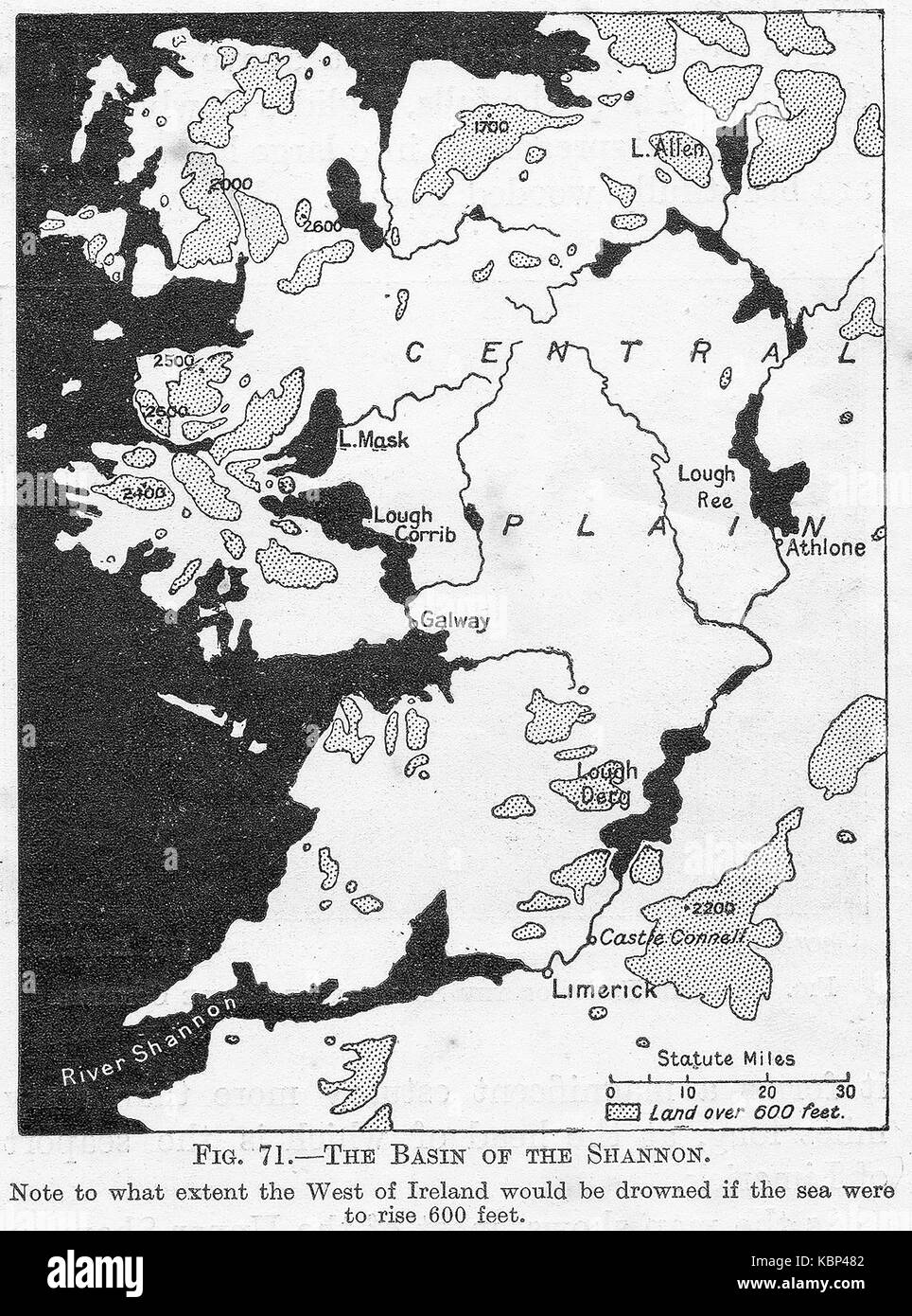 Climate map black and white stock photos images alamy a 1914 map about global warming and sea levels showing how the shannon basin in ireland gumiabroncs Gallery