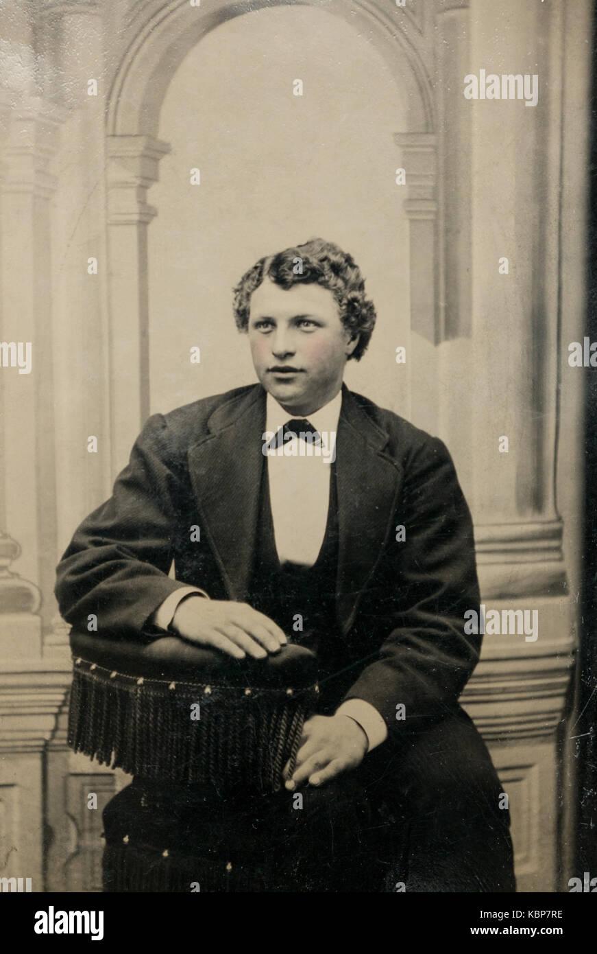 Tintype portrait stock photos tintype portrait stock for Chaise 19eme siecle