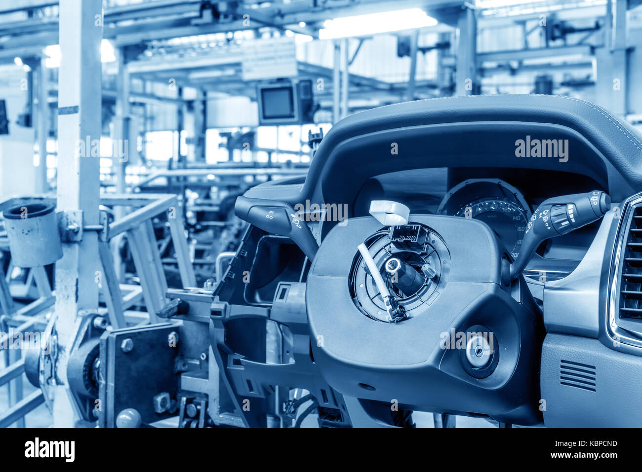 Modern automobile production line, automated production equipment ...