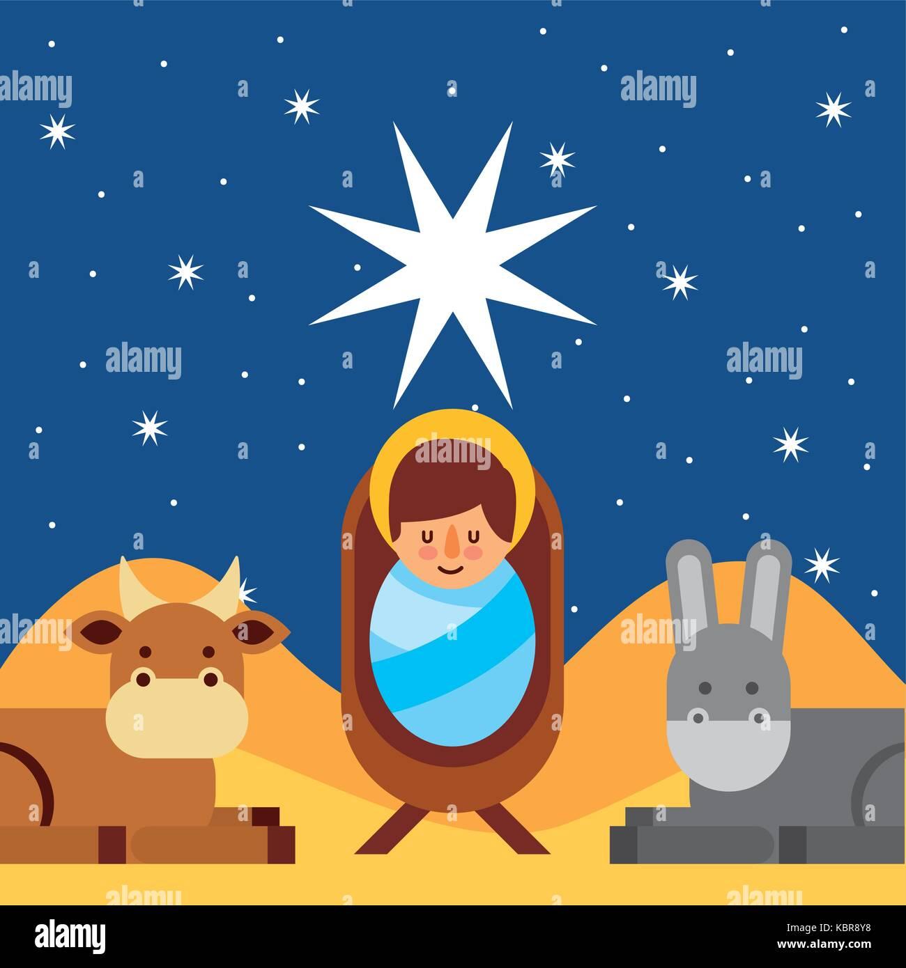 merry christmas jesus christ holy blessed Stock Vector Art ...