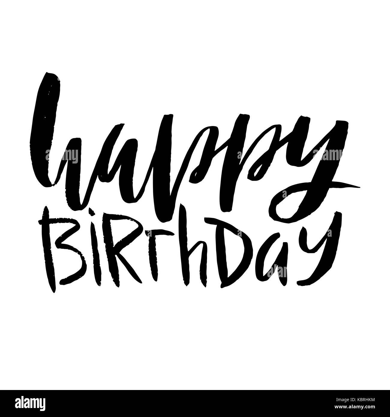 Happy Birthday Black And White Stock Photos & Images