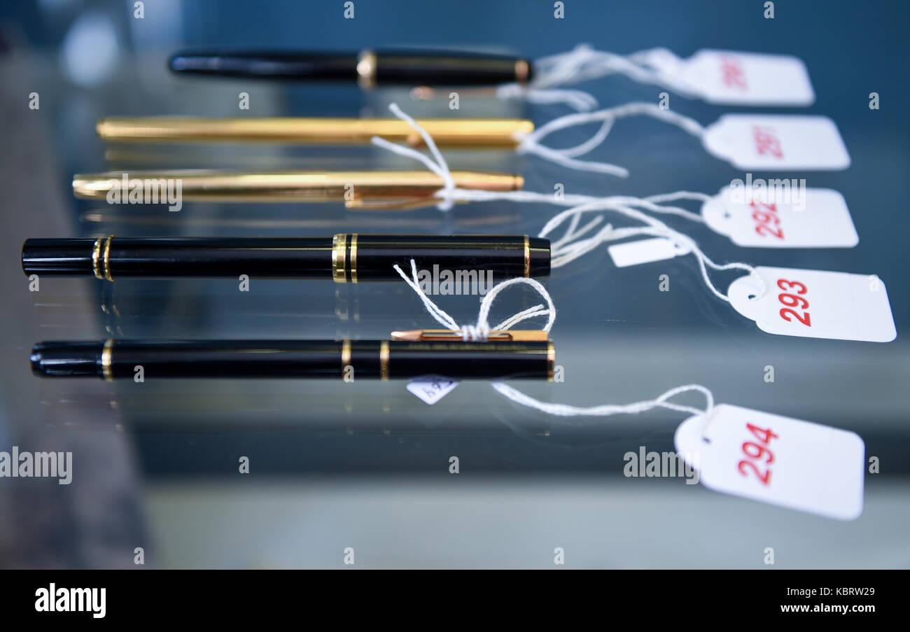 Stahl Hamburg hamburg germany 29th sep 2017 pens and ballpoint pens