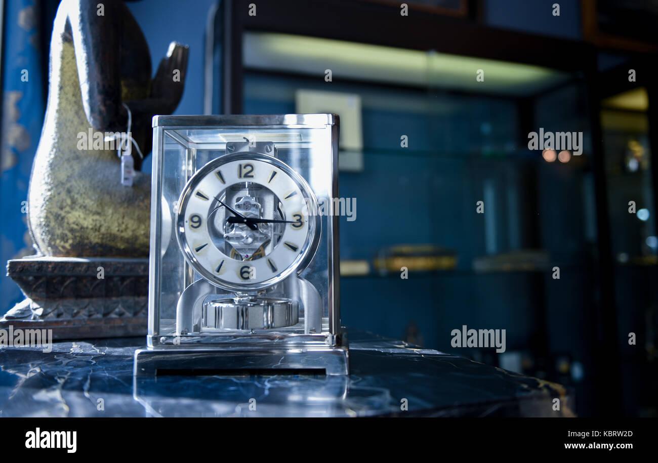 Stahl Hamburg hamburg germany 29th sep 2017 a clock on display at the stock