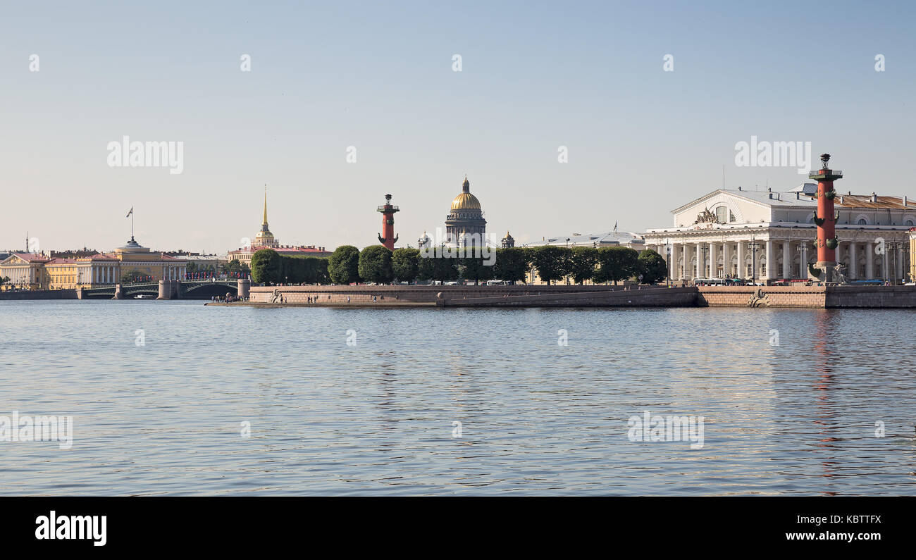 Spit Of Vasilievsky Island St Petersburg