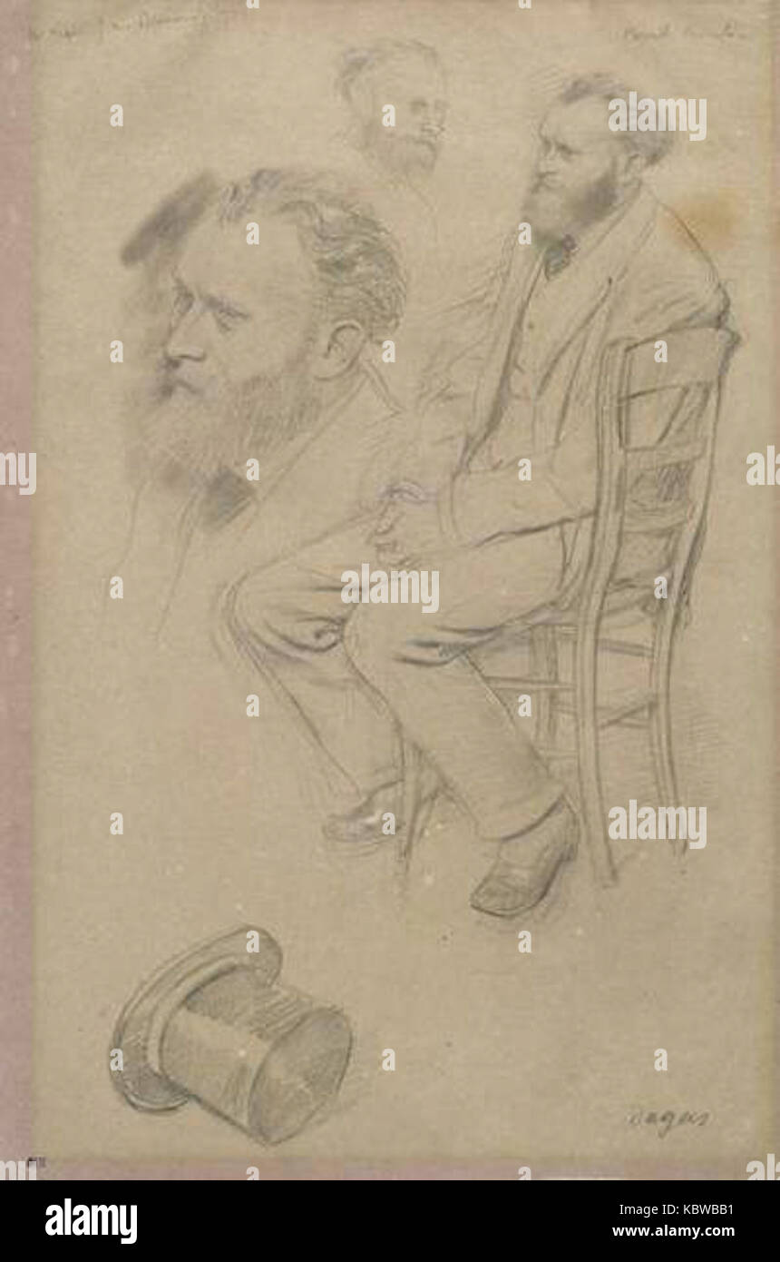 Edgar degas douard manet stock photos edgar degas for Assis sur une chaise