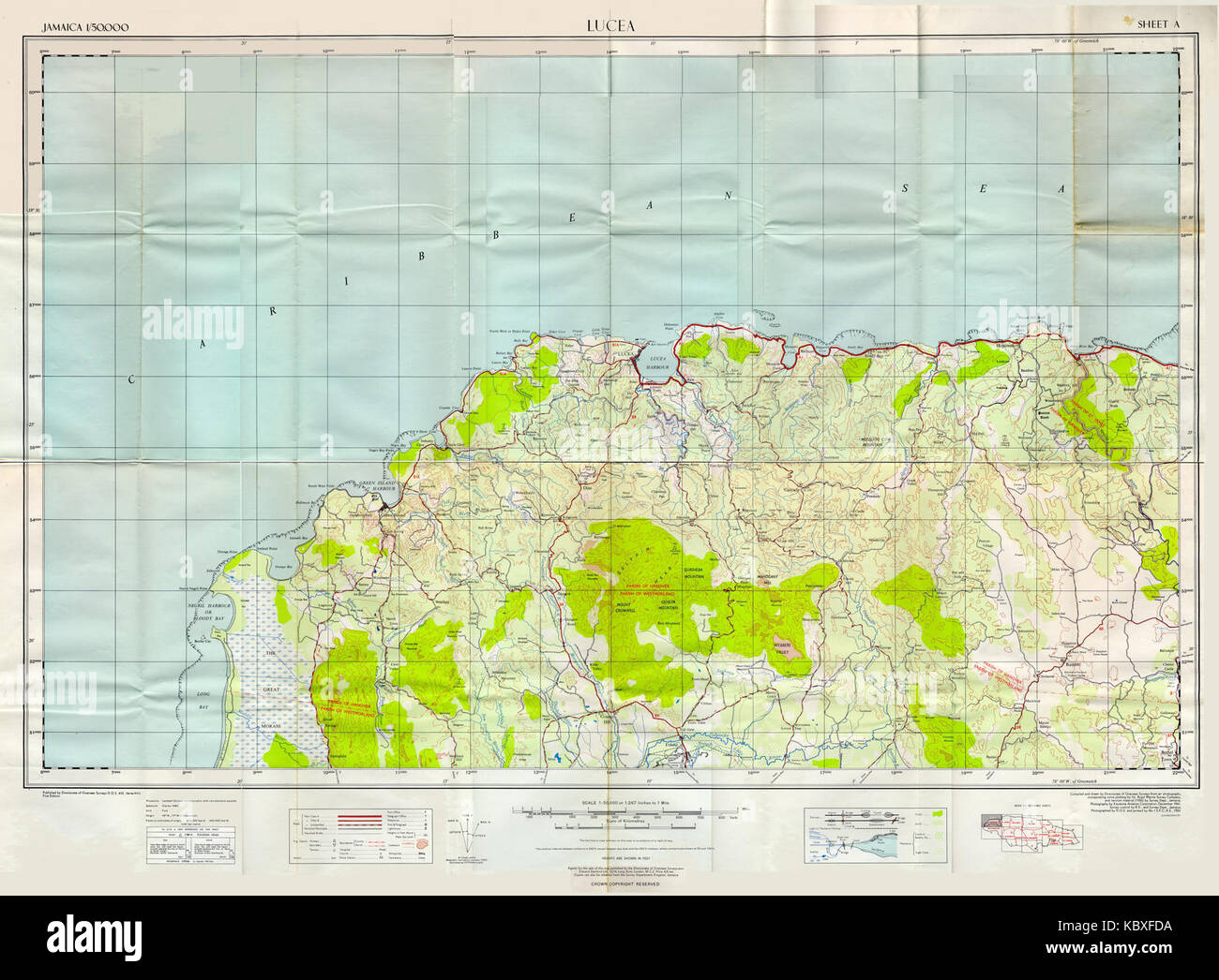 Ideas Map Of Jamaica Lucea On Emergingartspdxcom - Jamaica political map 1968