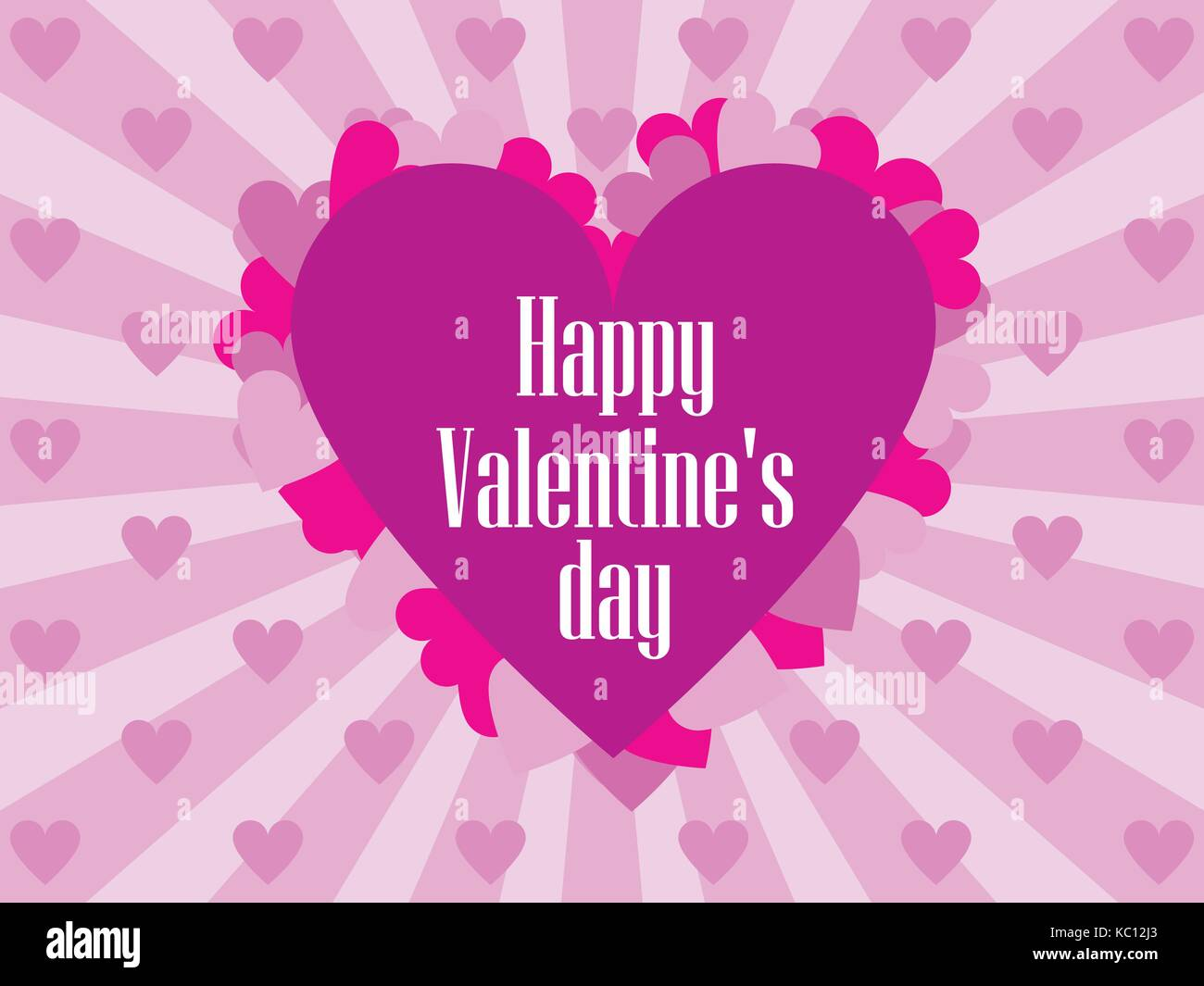Happy Valentines Day Festive Background For Greeting Cards And