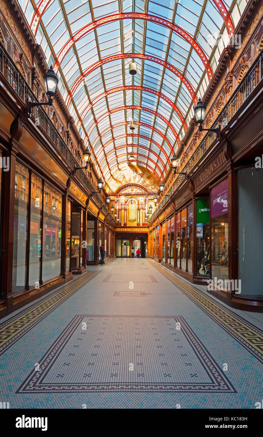 The edwardian central shopping arcade in the central exchange the edwardian central shopping arcade in the central exchange building in grey street part grainger town tyne and wear tyneside england dailygadgetfo Images