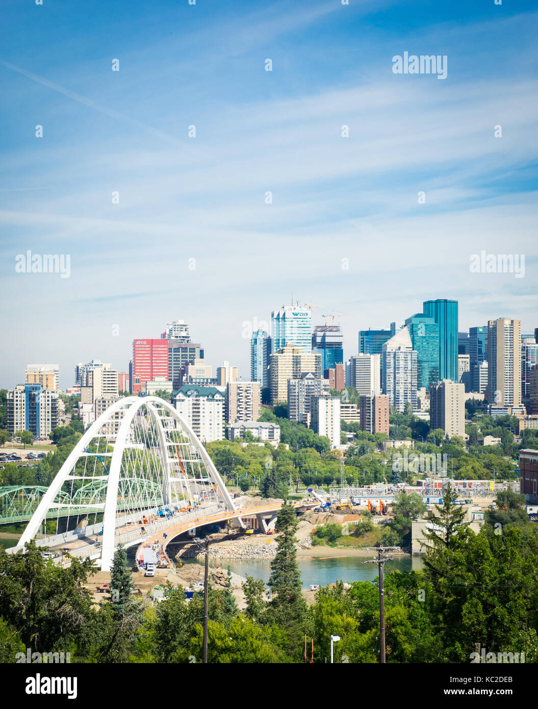 Edmonton: Edmonton Winter Skyline Stock Photos & Edmonton Winter
