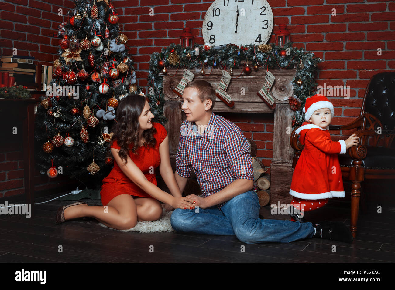 christmas tree presents fireplace stock photos u0026 christmas tree