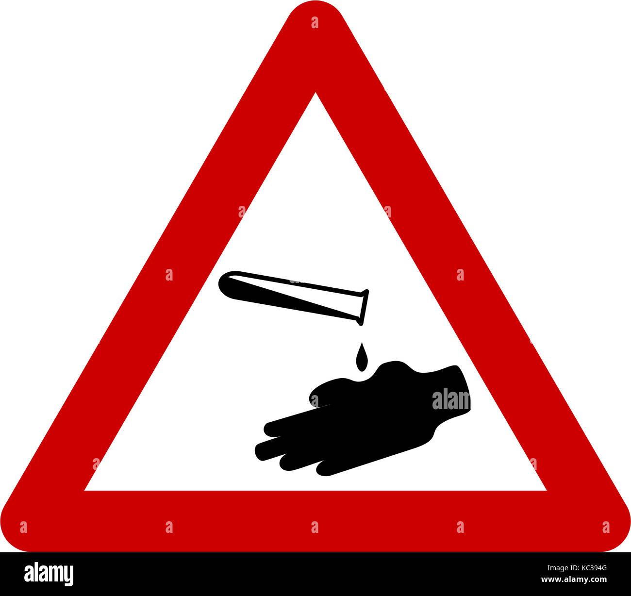 Corrosive safety symbol stock photos corrosive safety symbol warning sign with corrosive substances symbol stock image biocorpaavc Gallery