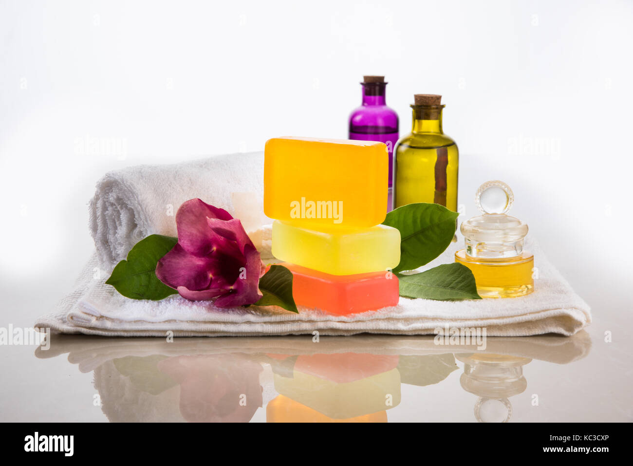 Handmade Ayurvedic Soap with bath and spa accessories. Fresh flowers ...
