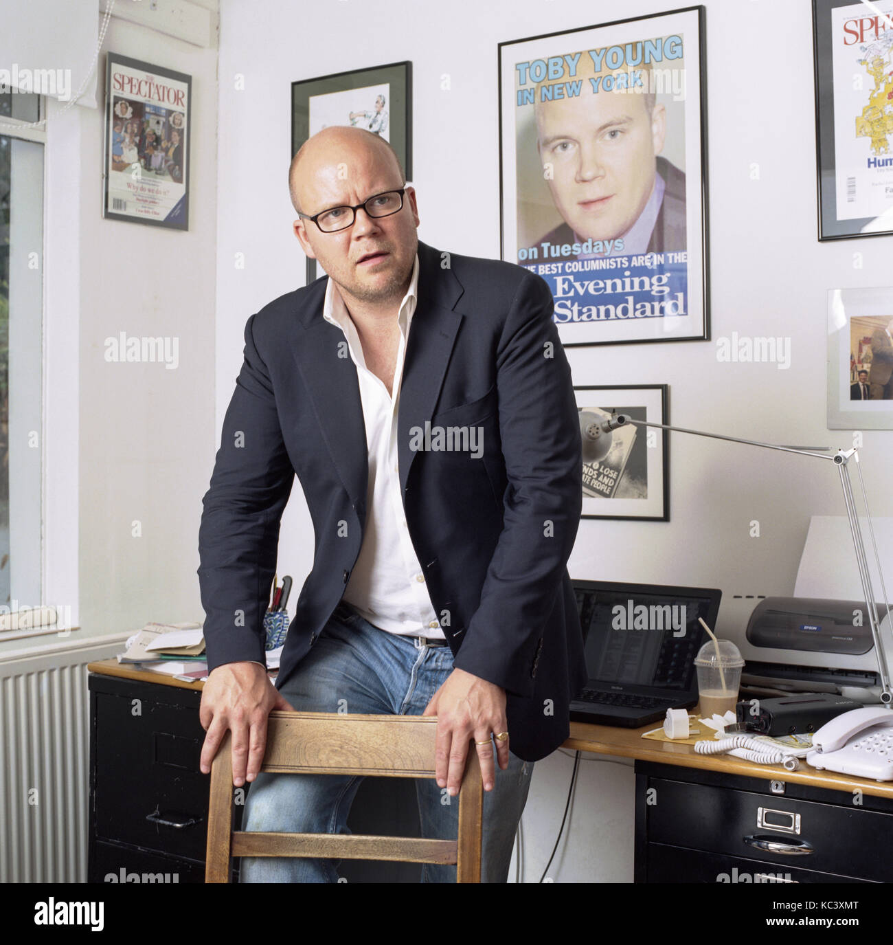 Toby Young, English Journalist And Author Photographed In London England,  7th August 2006