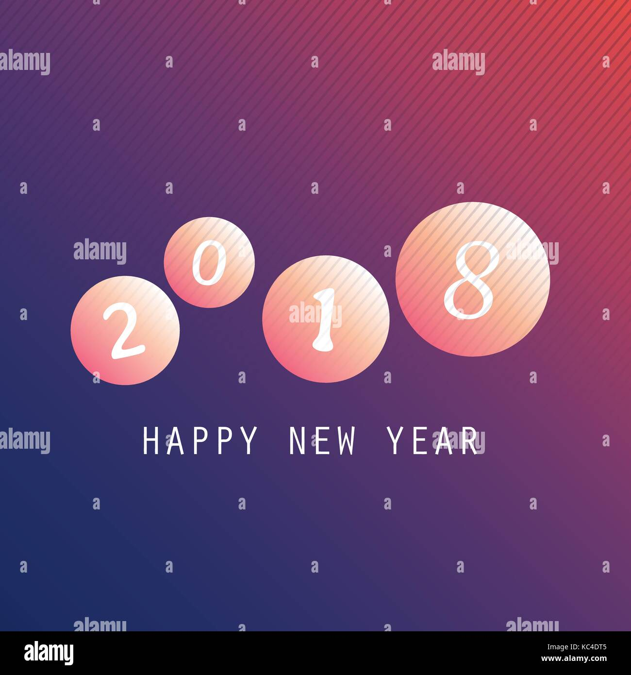 best wishes abstract modern style happy new year greeting card cover or background creative design template 2018