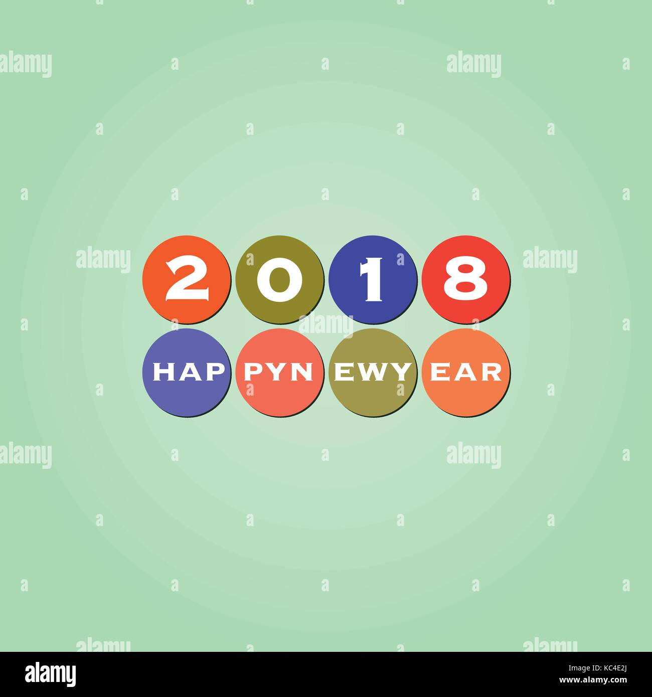 best wishes modern simple minimal happy new year card or cover background template 2018
