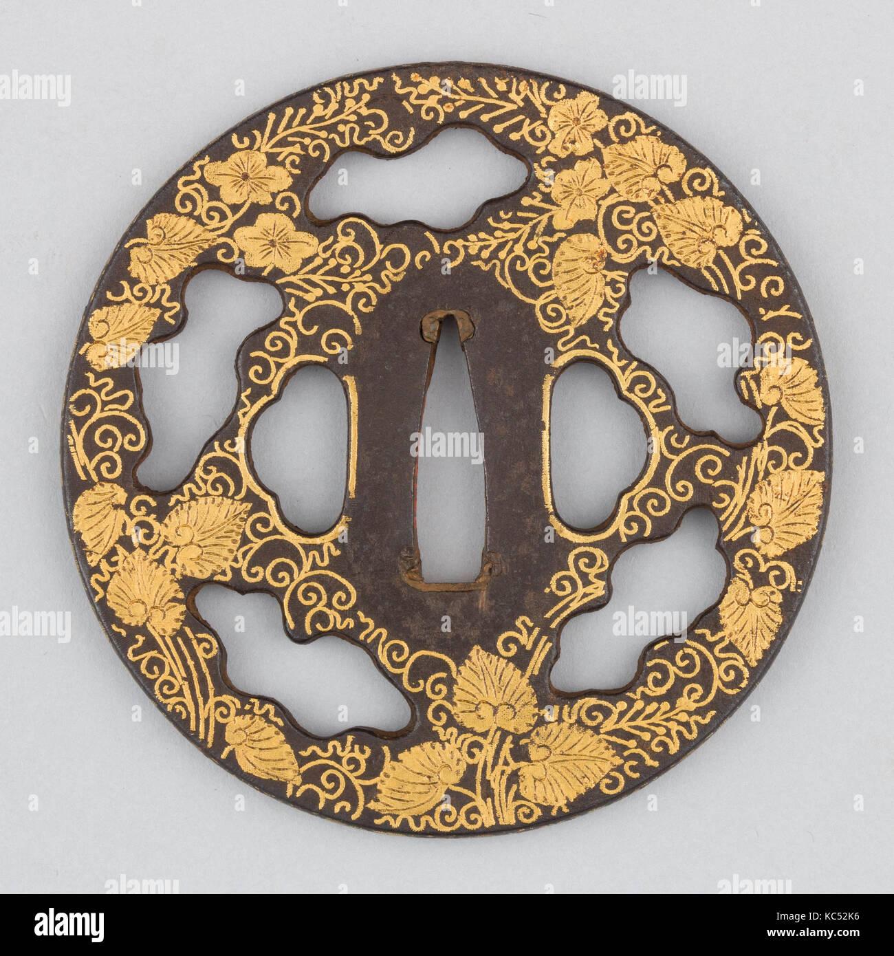 Sword guard tsuba 17th century japanese iron gold copper sword guard tsuba 17th century japanese iron gold copper diam 3 316 in 81 cm thickness 316 in 05 cm wt 48 buycottarizona Image collections