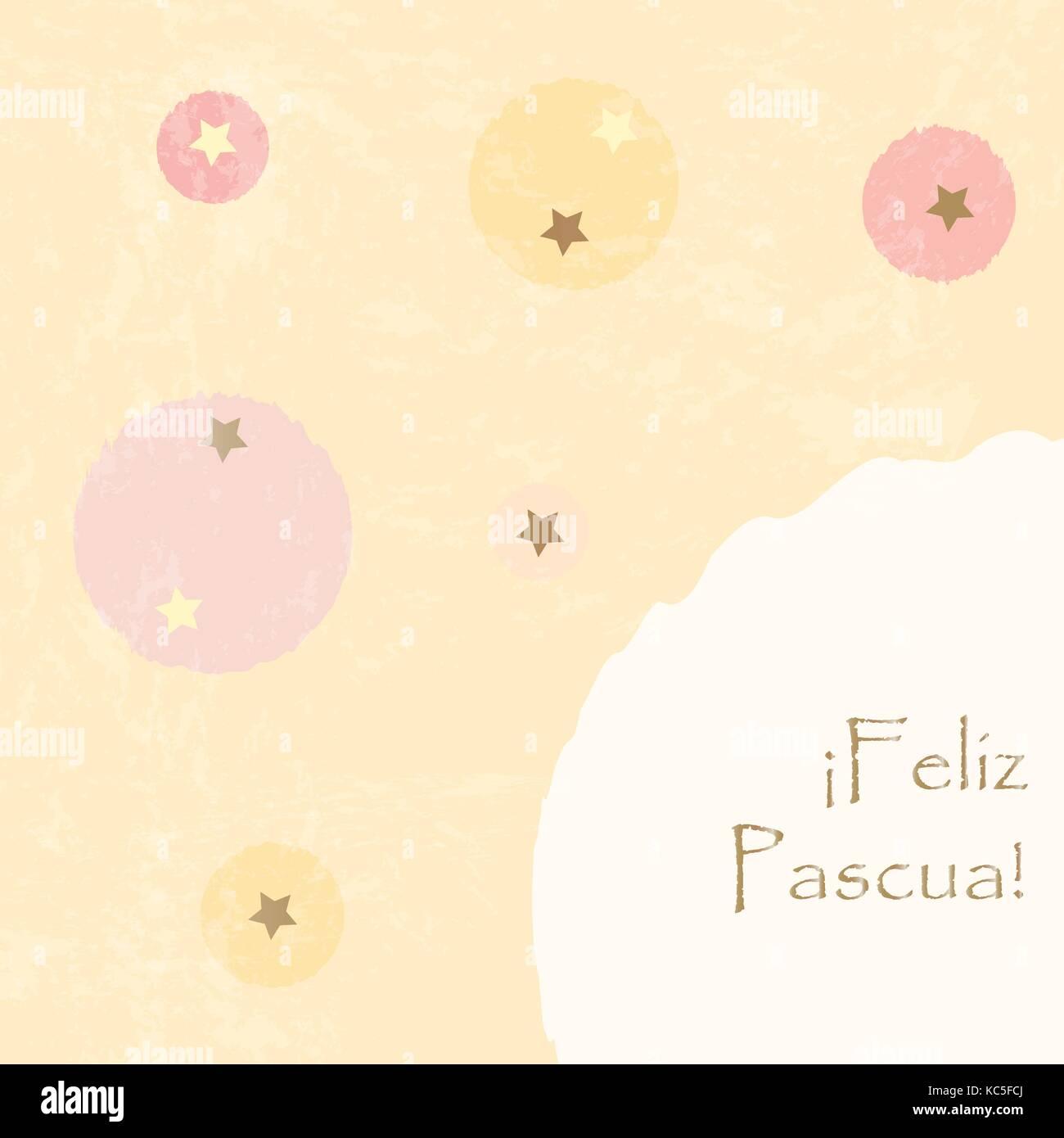 Happy easter greeting card spanish language vector illustration happy easter greeting card spanish language vector illustration m4hsunfo