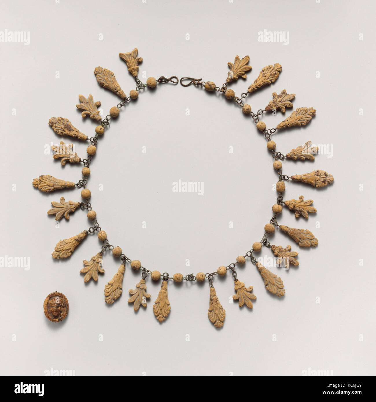 Terracotta necklace with palmette and lotus pendants 3rd century terracotta necklace with palmette and lotus pendants 3rd century bc audiocablefo
