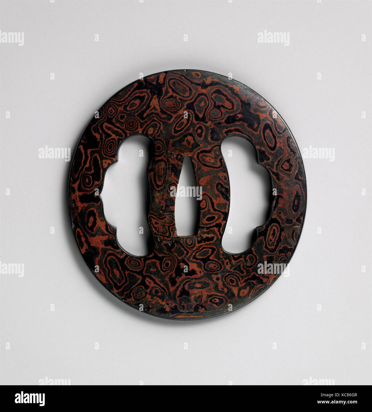 Sword guard tsuba first third 19th century japanese metal stock sword guard tsuba first third 19th century japanese metal laminate mokume gane iron copper gold alloy shakud copper buycottarizona Image collections