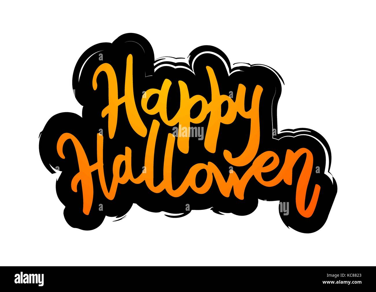 Happy Halloween Message Design Background.   Stock Image