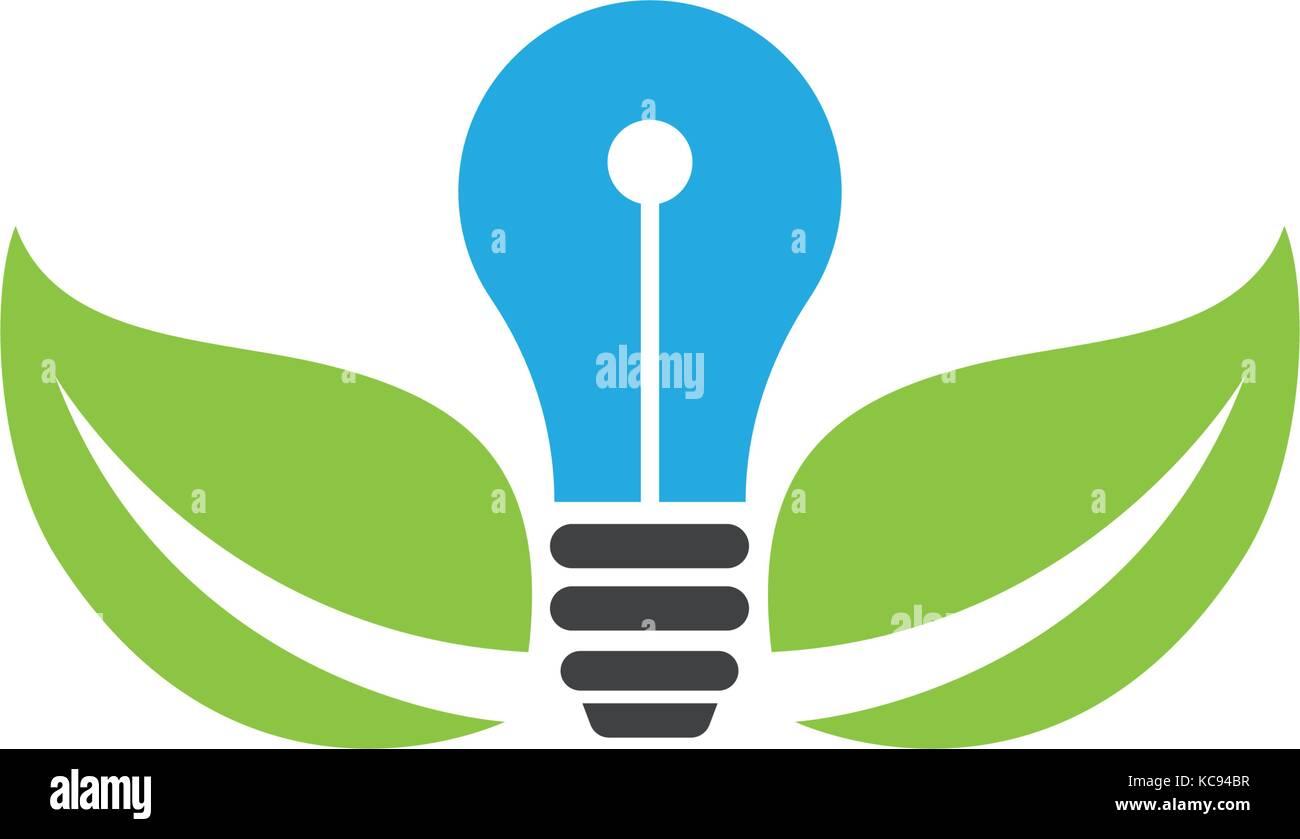 Vector Light Bulb Symbol Logo Temlate Vector Design Stock Vector Art