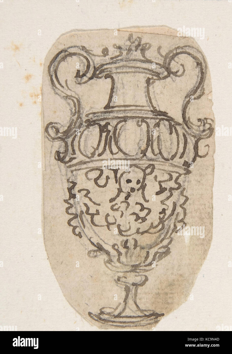 Outline of a desin for a vase with two handles giovanni battista outline of a desin for a vase with two handles giovanni battista foggini 16521725 reviewsmspy