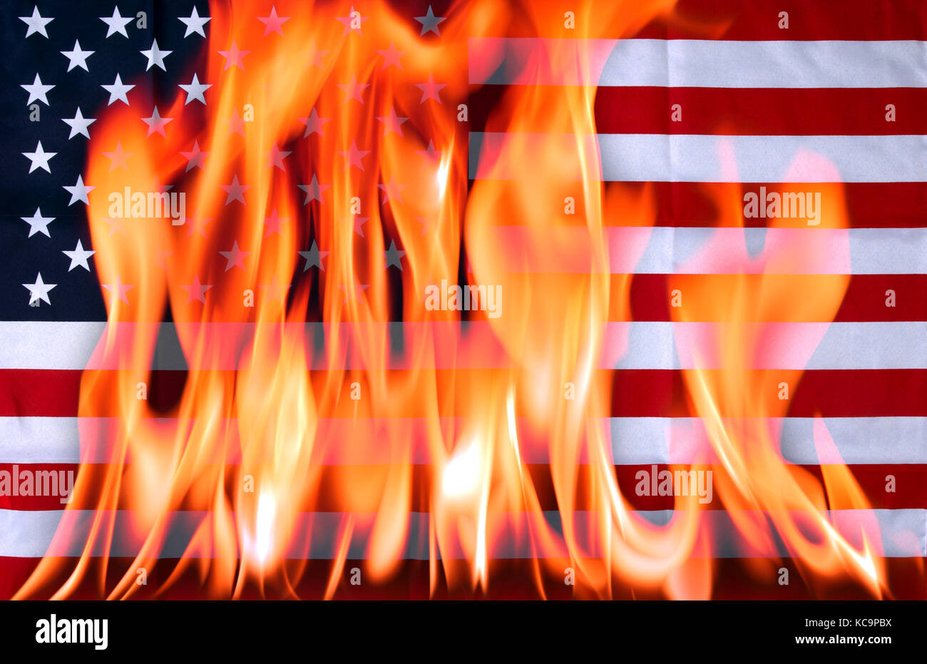 American Flag Fire Stock Photos Amp American Flag Fire Stock