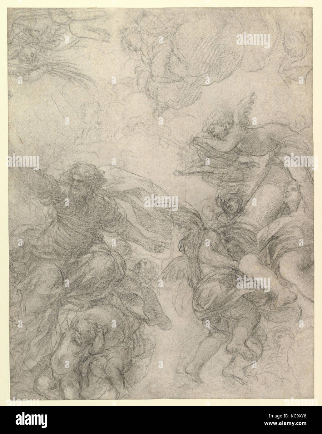 God The Father With Angels Holding Symbols Of The Passion Pietro Da