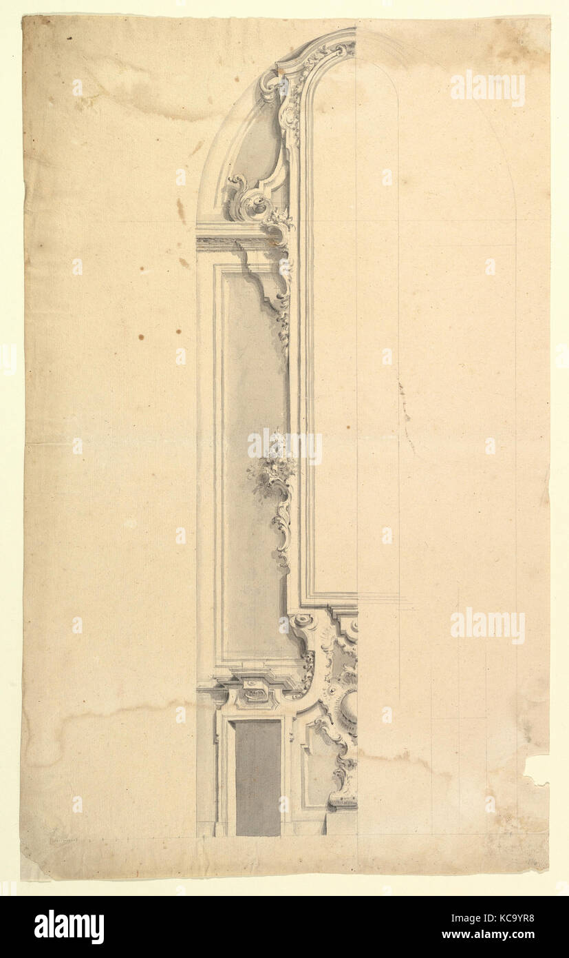 Design for Wall Decoration with Doors on both Sides of a Tall and ...