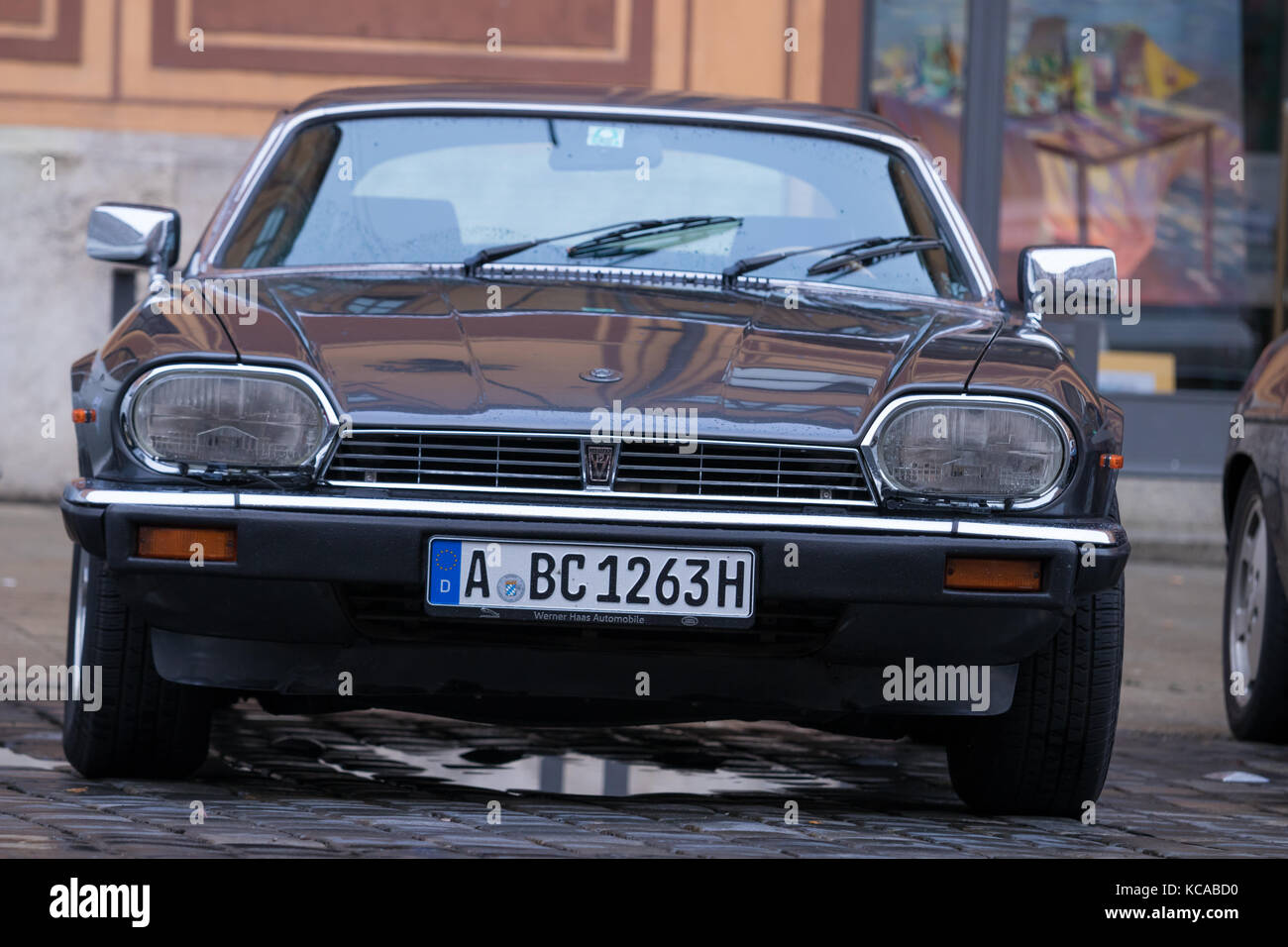 Augsburg, Germany   October 1, 2017: 1985 Jaguar XJS Oldtimer Car At The  Fuggerstadt Classic 2017 Oldtimer Rallye On October 1, 2017 In Augsburg,  Germ