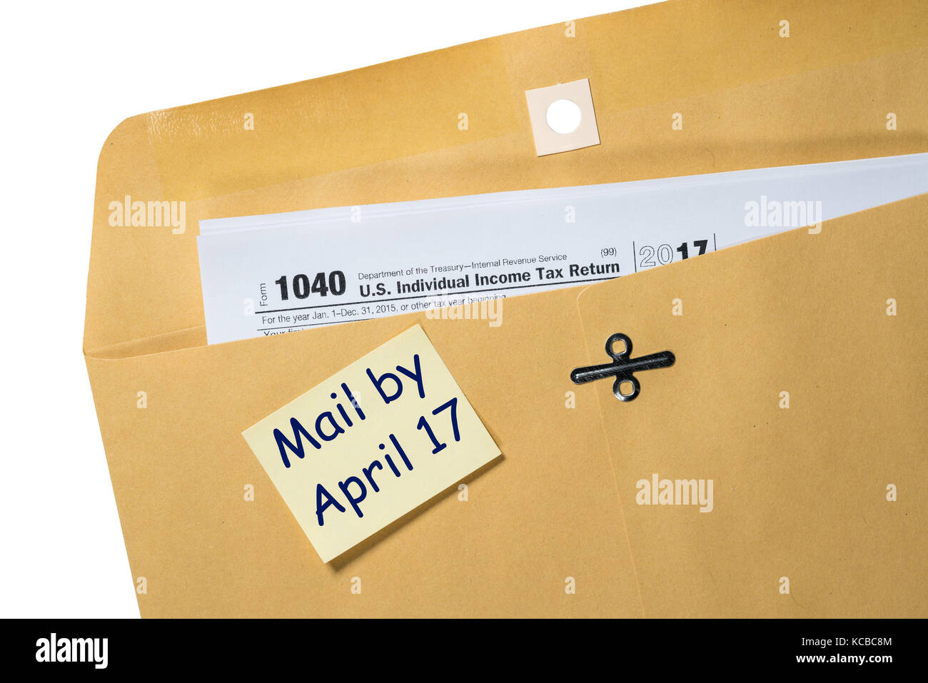 Tax day reminder for april 17 on envelope stock photo royalty tax day reminder for april 17 on envelope sciox Image collections