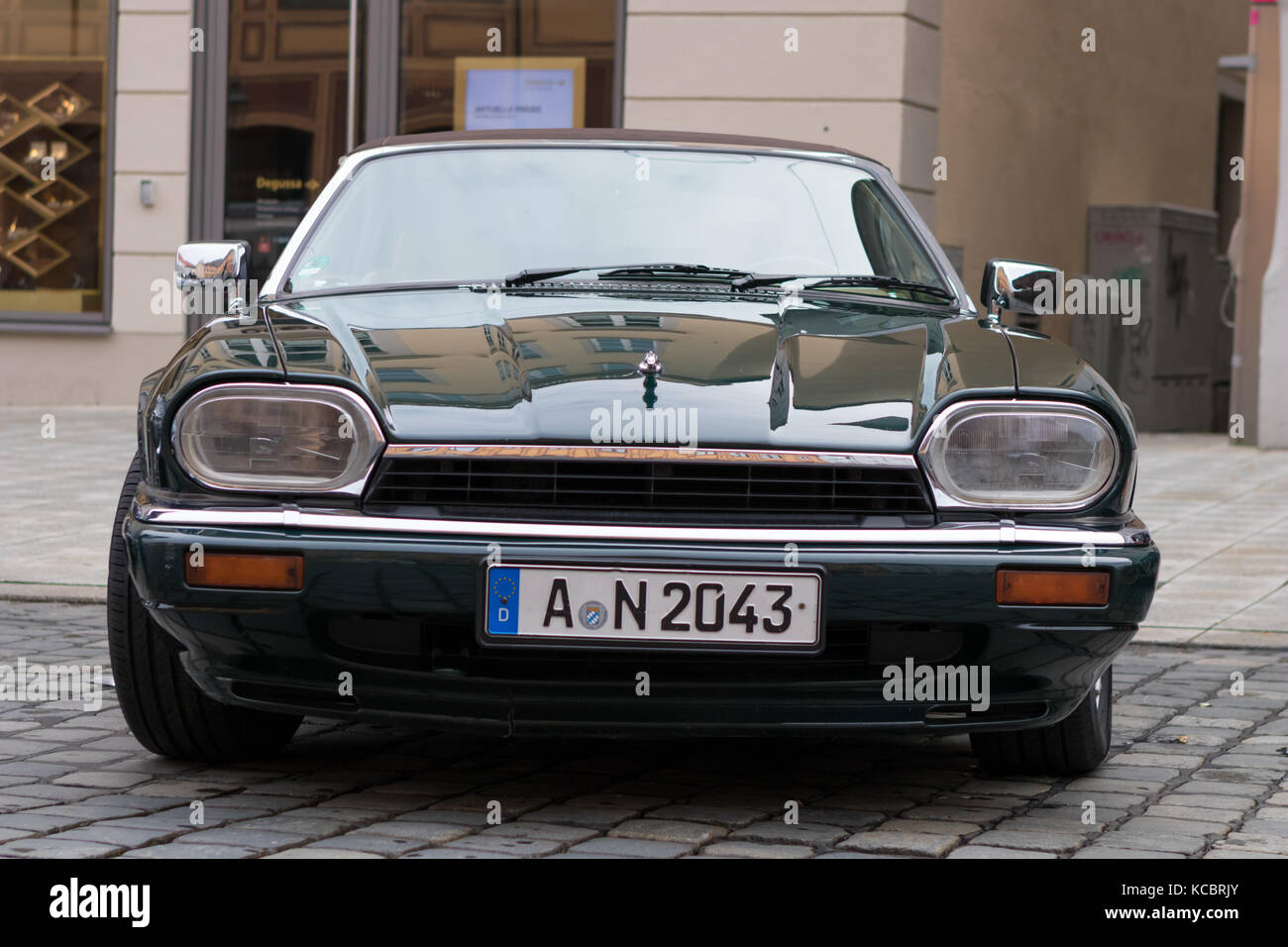 Augsburg, Germany   October 1, 2017: 1993 Jaguar XJS Oldtimer Car At The  Fuggerstadt Classic 2017 Oldtimer Rallye On October 1, 2017 In Augsburg,  Germ