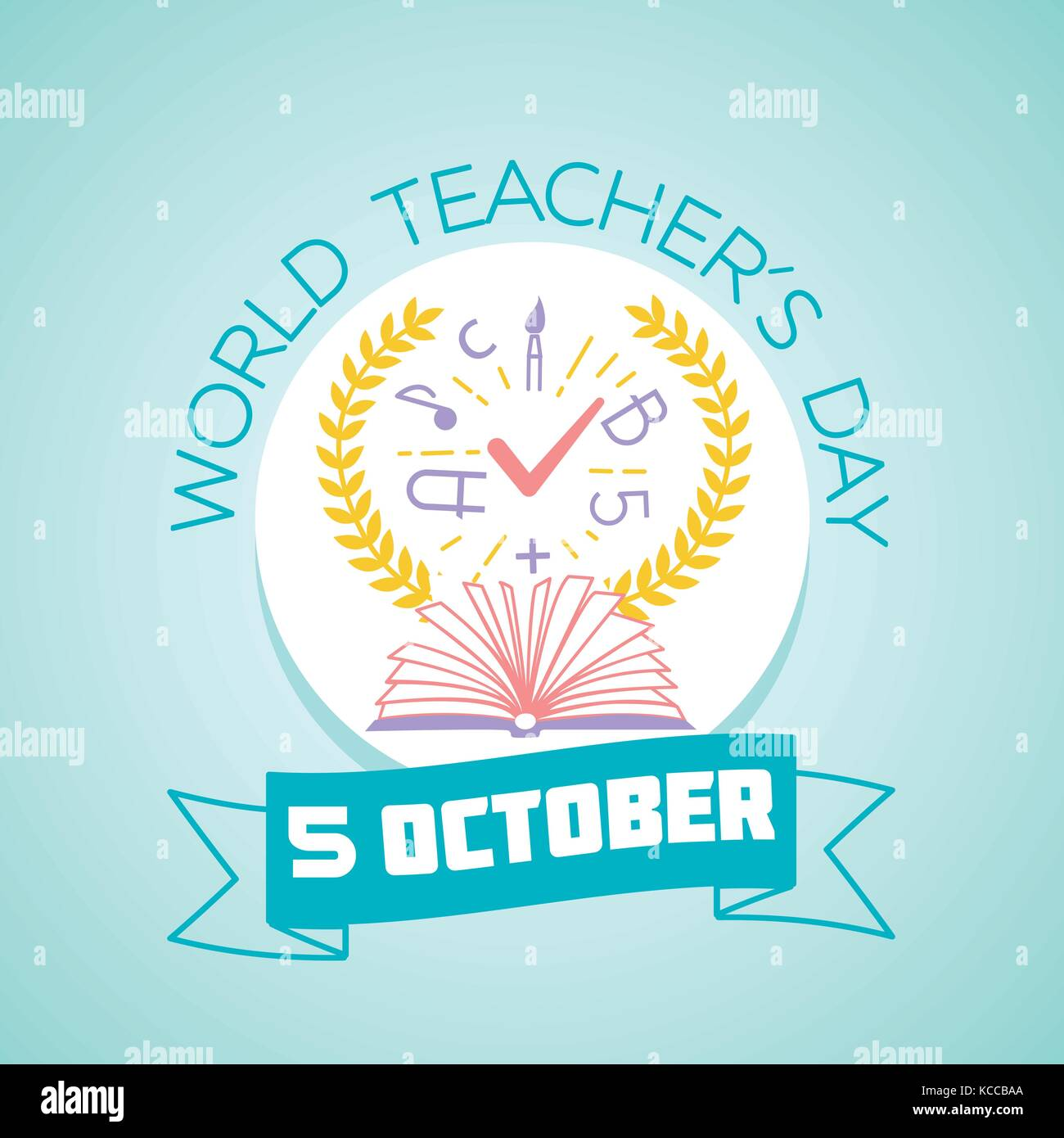 Calendar for each day on october 5 greeting card holiday world calendar for each day on october 5 greeting card holiday world teachers day icon in the linear style kristyandbryce Images