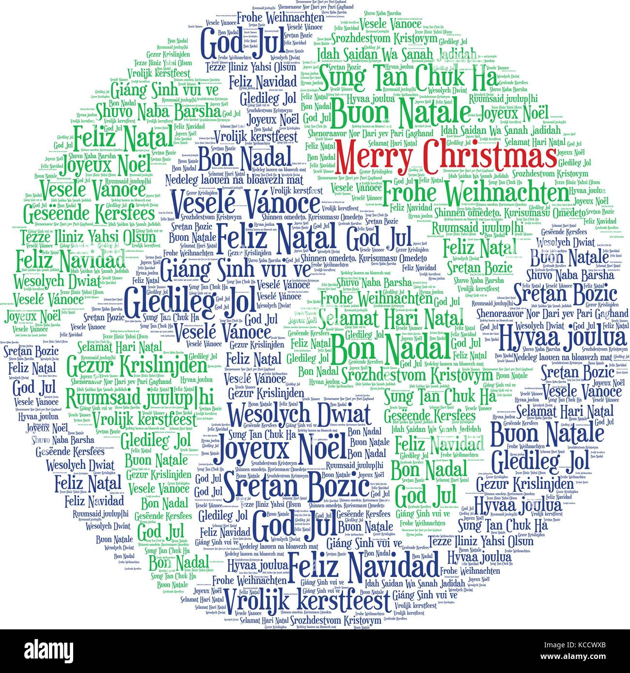 Words Cloud Merry Christmas In All Languages Of The World Made - All languages in the world