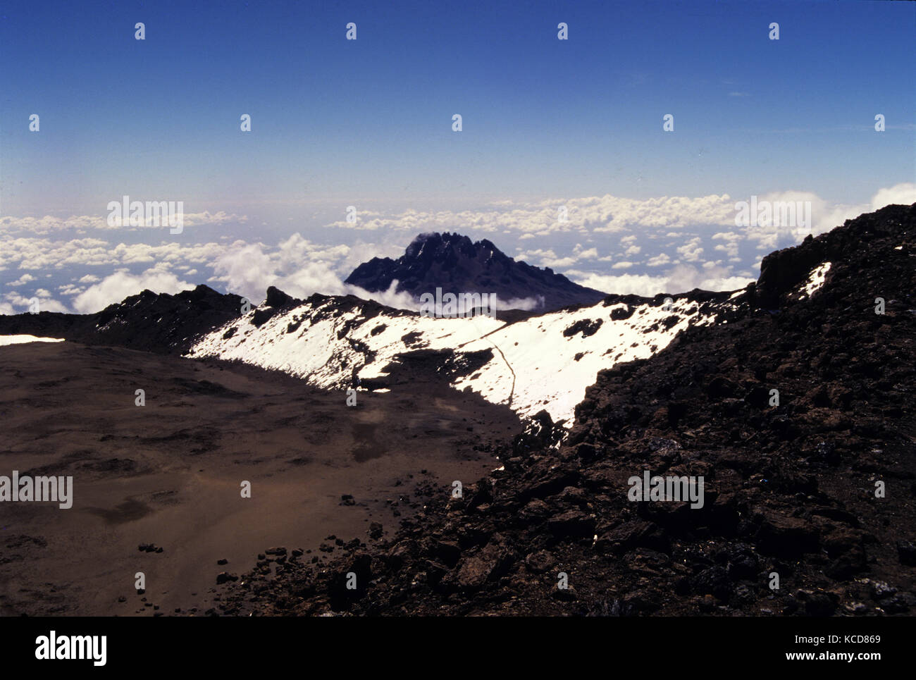 Mawenzi Peak In The Distance As Seen From Mount Kilimanjaro Peak - Distance above sea level