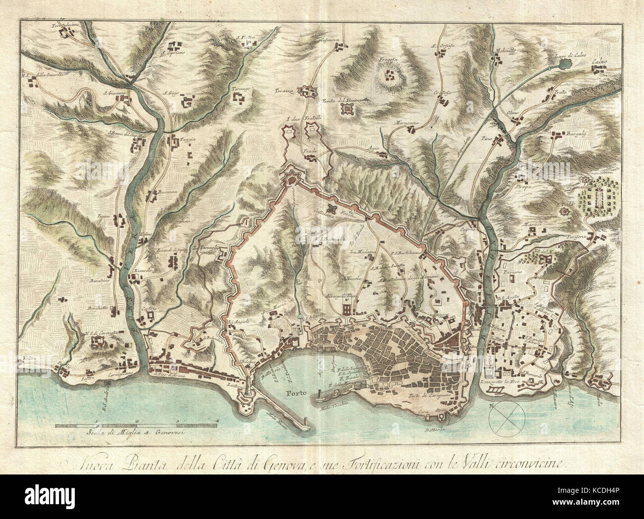 Map Of Genoa Italy Stock Photos Map Of Genoa Italy Stock Images - Italy map genoa