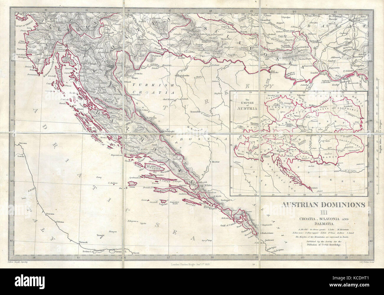 Croatia Map Stock Photos Croatia Map Stock Images Alamy