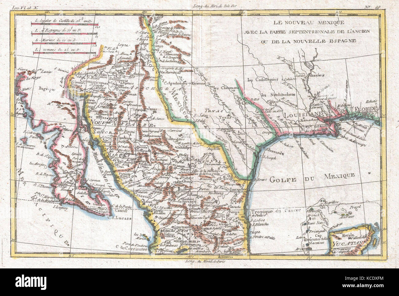 Map Of Texas Mexico.1780 Raynal And Bonne Map Of Mexico And Texas Rigobert Bonne 1727